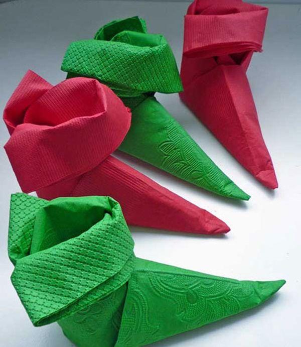 M s de 25 ideas nicas sobre servilletas de navidad en - Doblar servilletas para navidad ...