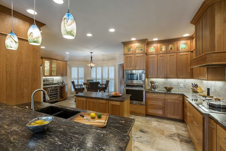 Soaring Cherry Kitchen Dewils Cherry Cabinets Orion Leather Granite Counters Elk Geological
