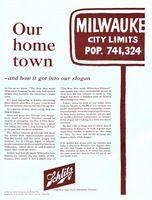 Schlitz Beer Slogan 1961 Ad Picture