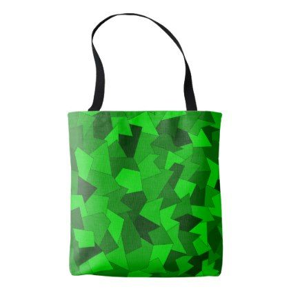 Carrying bag with abstract sample in green - sample design diy personalize idea
