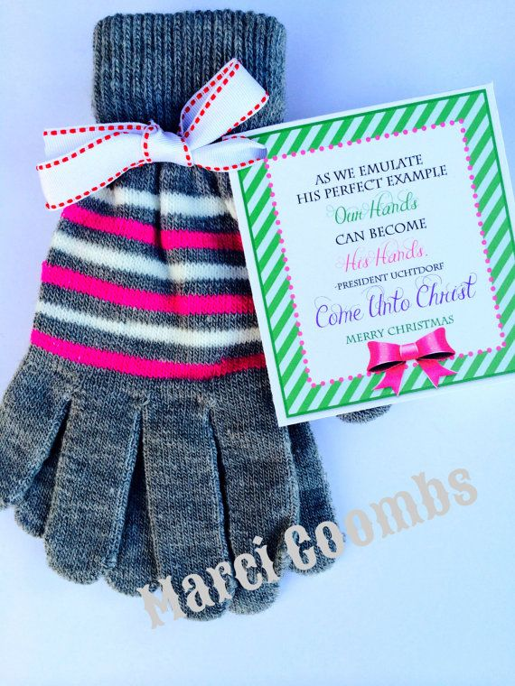 Come Unto Christ gloves Christmas present for Young Women 2014