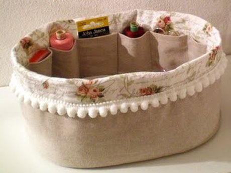 Sewing basket - free sewing pattern