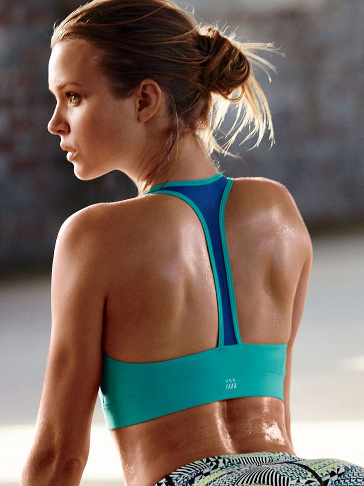 The Player by Victorias Secret Racerback Sport Bra - Victoria's Secret Sport - Victoria's Secret VSX Sport Activewear for women | Gym clothes | Fitness Apparel | Running clothes | Sport bras | Tank tops | Tights | Capris | Workout shorts @ http://www.FitnessApparelExpress.com