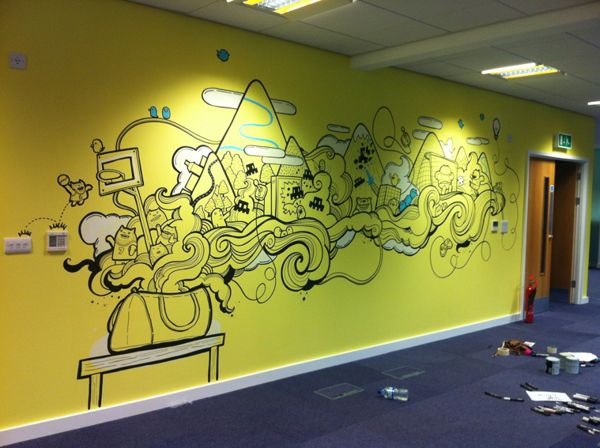 Sumo Digital Office Murals By Geo Law, Via Behance Part 79
