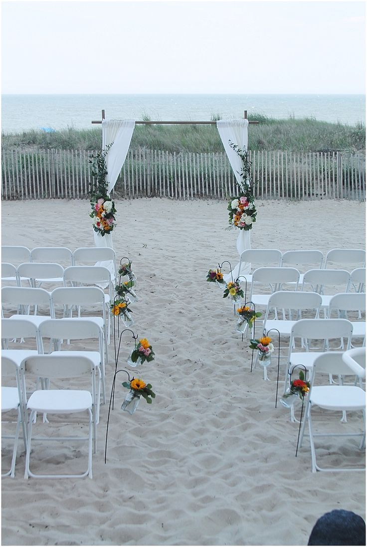 little miss lovely floral design // ocean city maryland wedding florist // beach ceremony archway