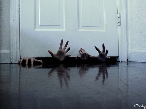 Hands Under The Door - I guess I'm on a creepy hand kick, but I think it works