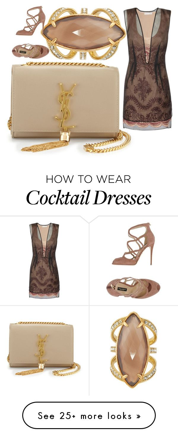 """""""Untitled #224"""" by say-dhax on Polyvore featuring mode, Yves Saint Laurent, Henri Bendel, Dolce&Gabbana, women's clothing, women, female, woman, misses en juniors"""