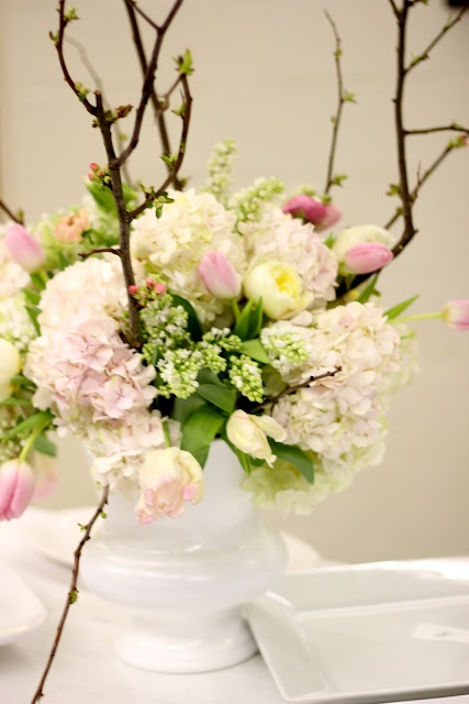 Diy flower arrangment quot how to spring inspired blush