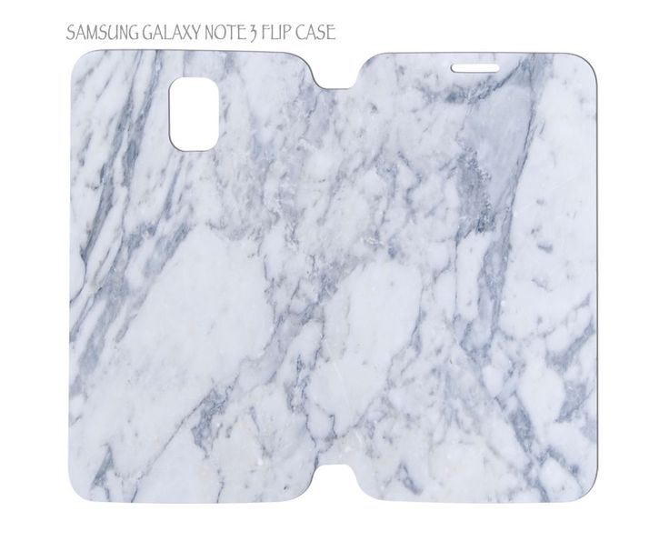 Samsung Galaxy Note 3 Flip Case Folio Cover White Marble #QuinnCafe
