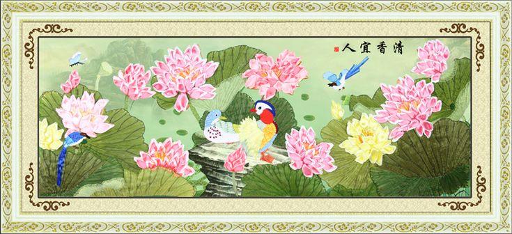 Купить товарBышивке 115 X 50 см цветок большие картины аромат вышивки крестом 3d картины маслом алмазов печать в категории Embroideryна AliExpress.   ДЕТАЛИ ПРОДУКТА