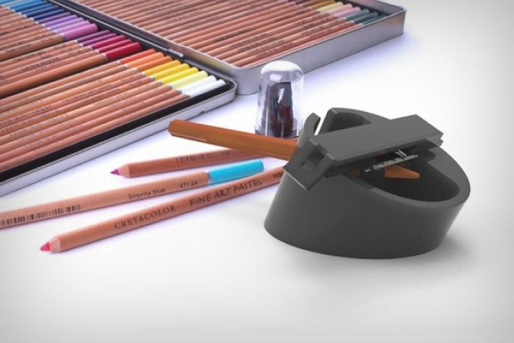 The Osciblade sharpener does two pretty nifty things. It provides the efficiency of an electric sharpener without really using electricity, and it brings a new, fun