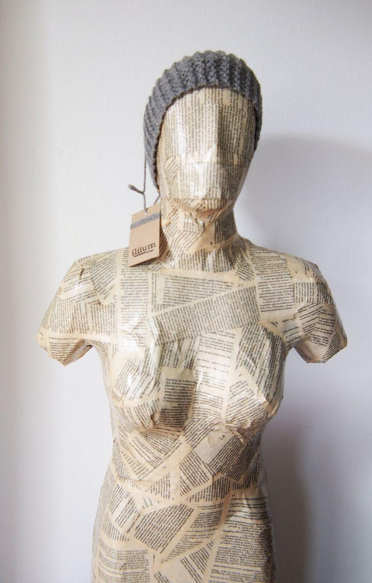 fascia capelli donna ragazza idea regalo fatta a mano knit handmade hair headband grigio argento nero ogni occasione fascia lana calda new di ZenithLab su Etsy