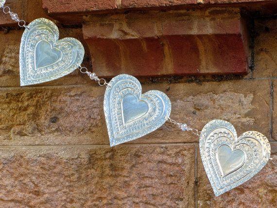 Metal Heart Garland Boho Chic Wedding Bunting by FoilingStar Pinterest ...foiling star in adelaide, australia
