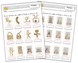 Kapla voorbeeldkaarten voor kleuters