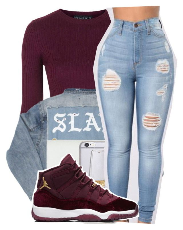 """Gettin so cold I'm not blinkin...."" by shilohluvsu ❤ liked on Polyvore featuring Topshop and Yves Saint Laurent"