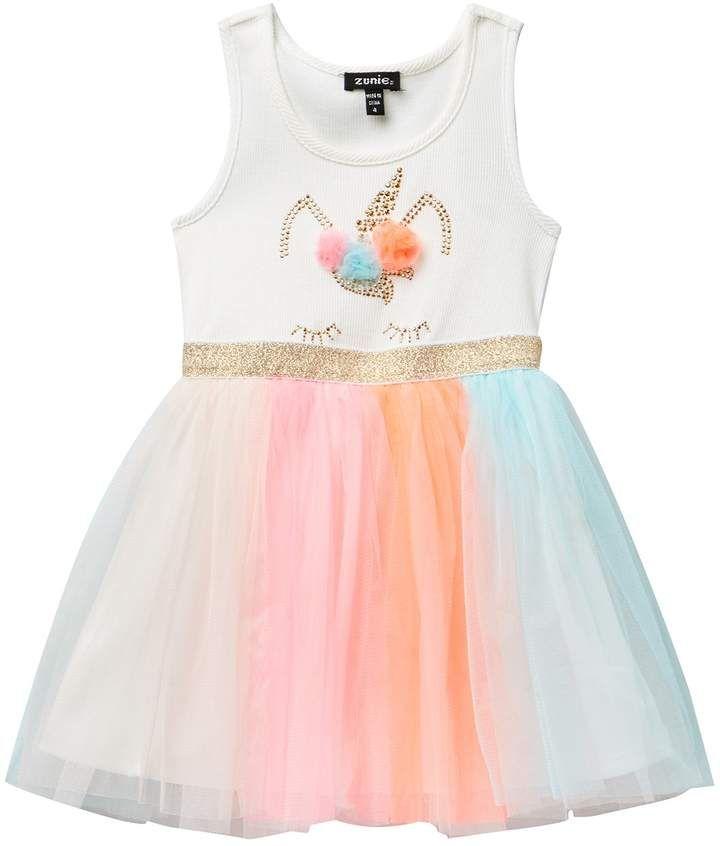 c7000111c Zunie 2X1 Racer Back Unicorn Tutu Dress (Toddler & Little Girls ...
