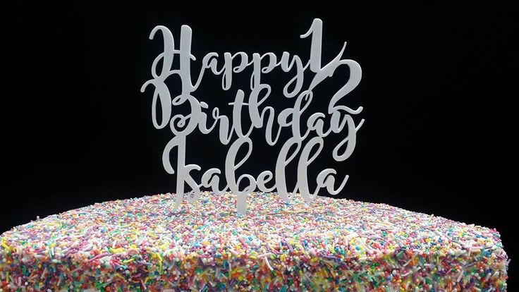 Rainbow Sprinkles 1/2 Birthday Cake decorated by Coast Cakes Ltd