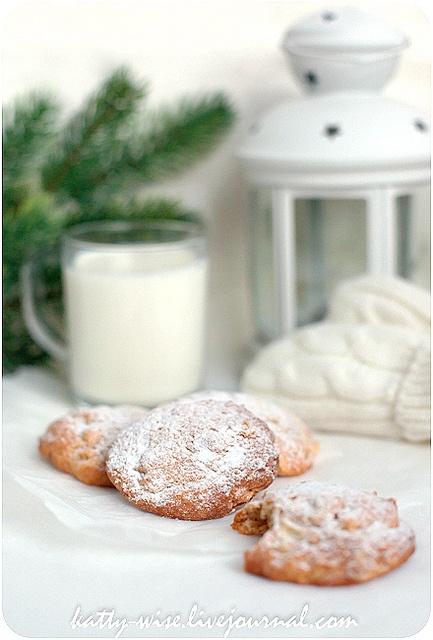 Пряное яблочное печенье