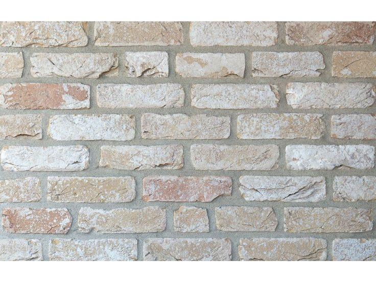 Klinkerriemchen / Retro Handform Riemchen K843R-WDF / Klinker / Fassade / Muster / Tafel / gelb bunt geschlämmt