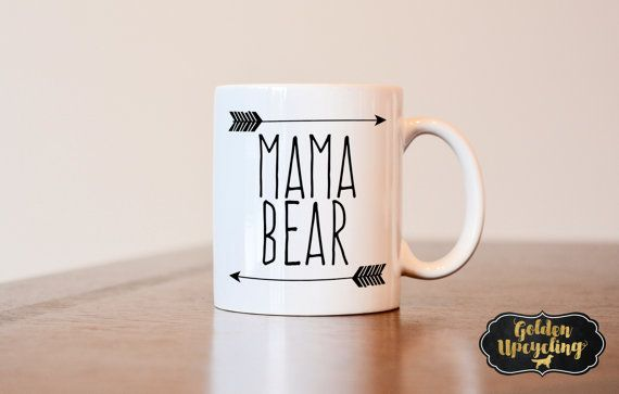Mama Bear Mug Mothers Day Gift Mothers day Mug by GoldenUpcycling