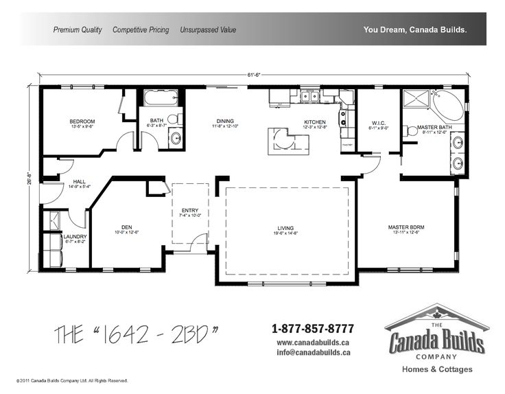 1000 ideas about custom modular homes on pinterest for Canadian house plans bungalow