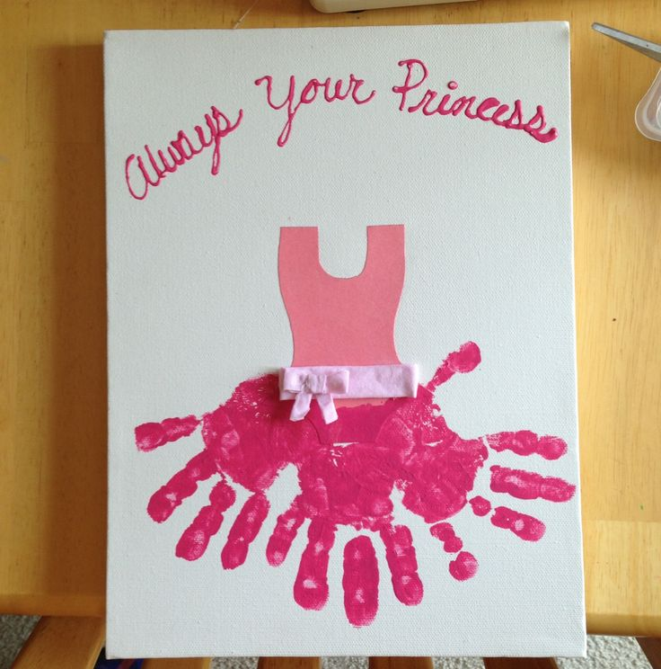 Girls Hand Print Craft / Wal Art ....my heart just melted!