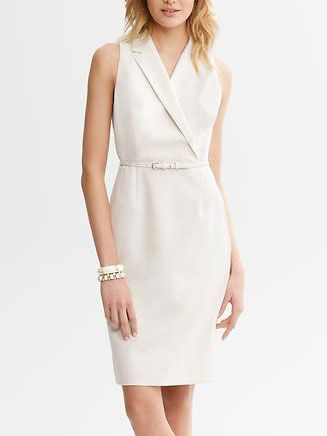 Petite dresses for work :: Banana Republic Ivory Sheath