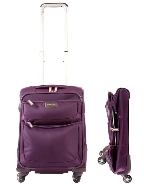 "Contempo 18"" Foldable Spinner Cabin Bag | Biaggi Lugage"