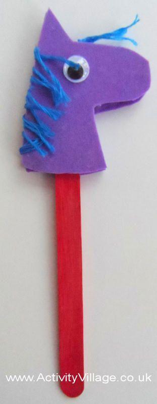 Hobby horse bookmark craft, kids,  Chinese New Year