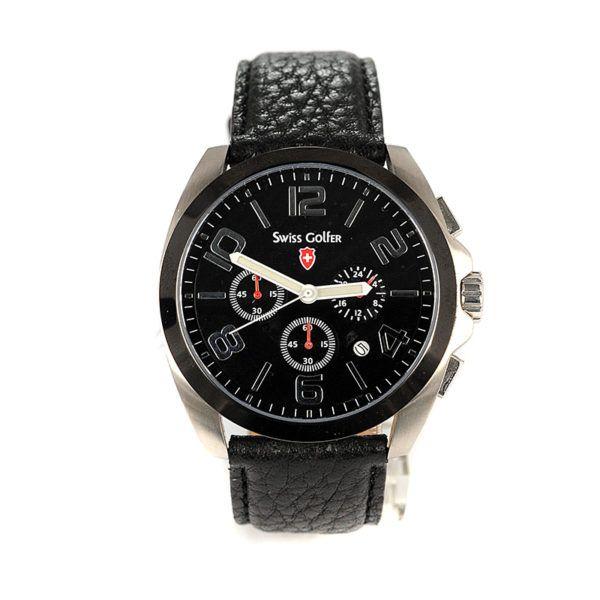 Ρολόι Swiss Golfer ανδρικό,  4871, δέρμα 487SW