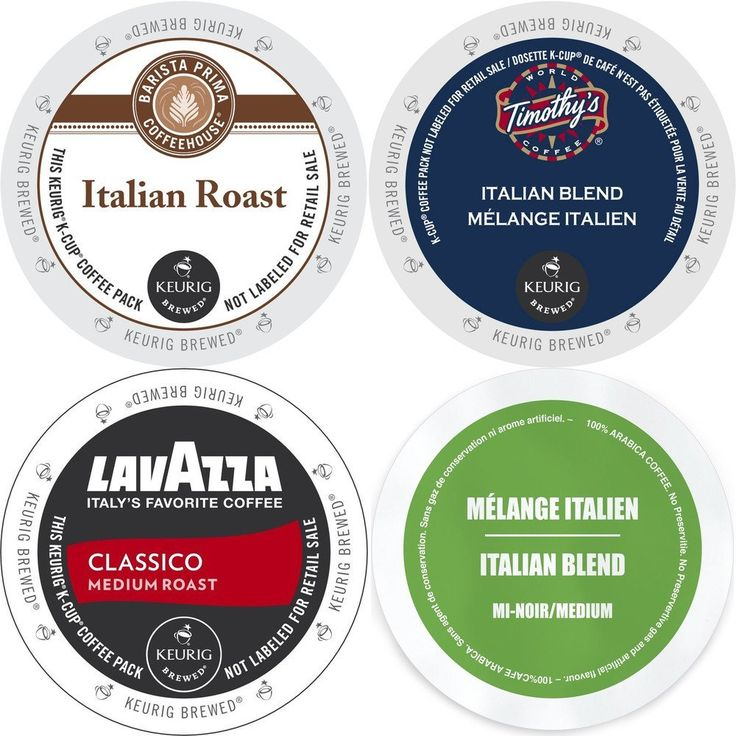 Italian Roast K-Cup Coffee 96 Count Variety Pack - Barista Prima Italian Roast, Lavazza Classico, Timothy's Italian Blend, and Faro Italian Blend, Keurig 2.0 K-Cup Sampler for Keurig K Cup Brewers ** Review more details here : K Cups