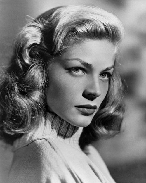 "Bacall. /// ...just saw her last night in ""Key Largo"" with Humphrey Bogart and Edward G. Robinson... she was awesome ...jvb"