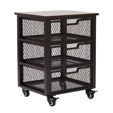 Office Star Products Garret Black 3 Drawer Rolling Cart - GRT03AS-BK