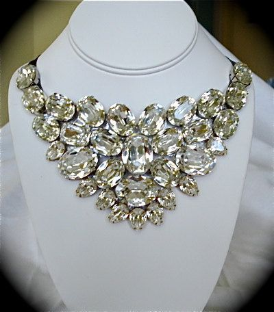 Chunky Swarovski Crystal Bib Necklace  Statement by TheCrystalRose, $300.00