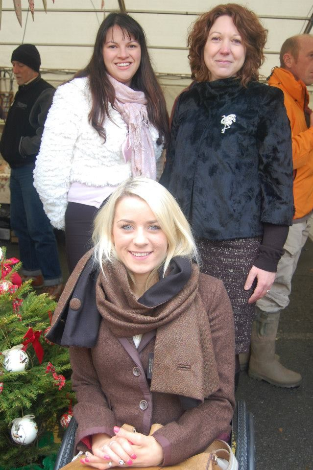 The organisers along with Josie Pearson our local paralympian GOLD medalist at Hay Does Vintage in Hay-on-Wye.