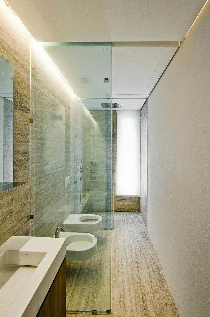 carrelage travertin et salle de bain petit espace