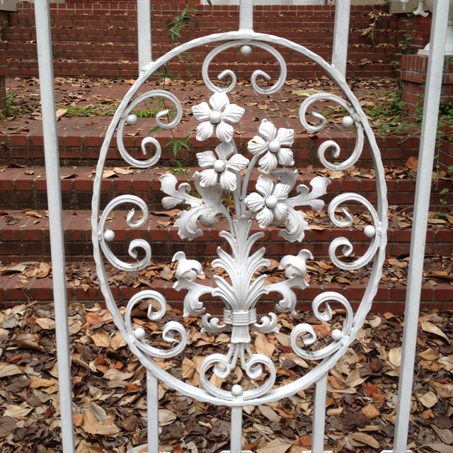 This would be on my iron gate, if I had one