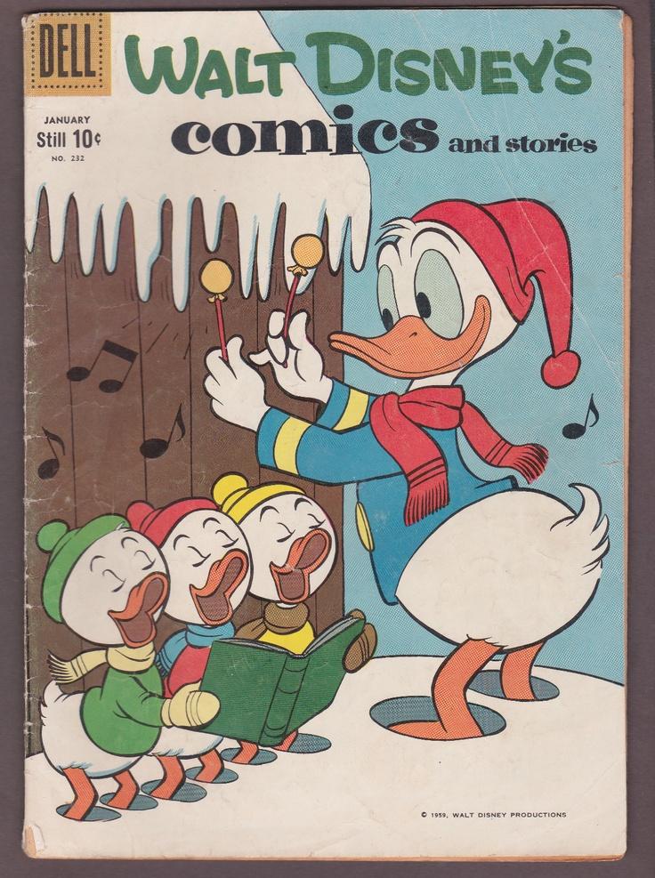 1959 Walt Disney's COMICS AND STORIES #232 Dell HUEY DEWEY LOUIE Donald Duck