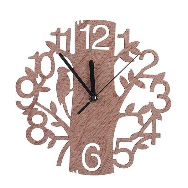 Creative Tree Design 3d Wall Clock Diy Wall Watches Living Room Home Decor Wooden In 2020 Diy Clock Wall Wood Wall Clock Retro Clock