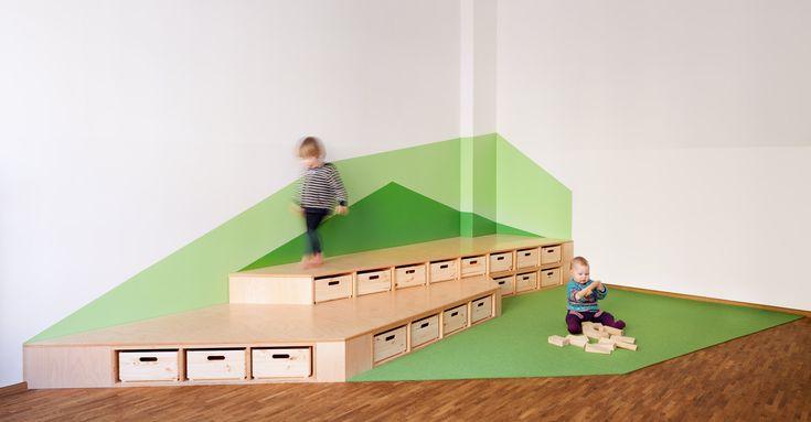 Kita gl ckskind baukind architekten atolyearch school for Spielpodest kinderzimmer