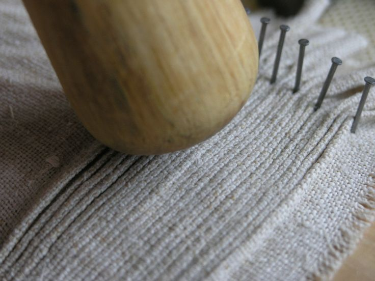 Pleating Viking linen under dress