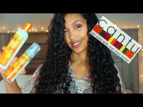 CANTU SHEA BUTTER CURLY HAIR ROUTINE   Moisturizing Curl Activator Cream...