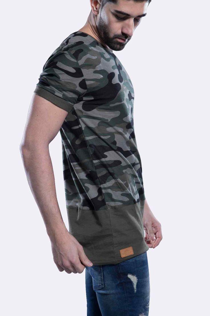 T-Shirt Militaire Rude Army mets en avant un style définitivement streetwear. c'est le complément idéal d'un Jeans Destroy pour un look rebelle et chic.