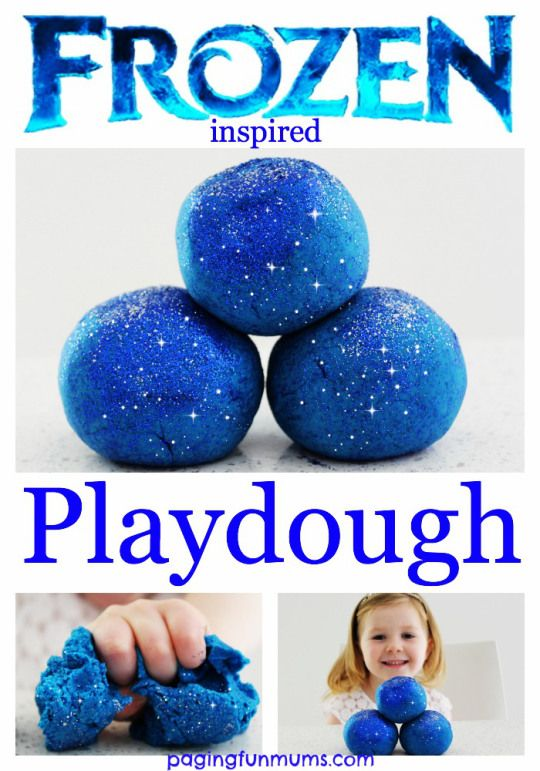 Frozen Playdough...the only playdough Elsa & Anna will play with ;)