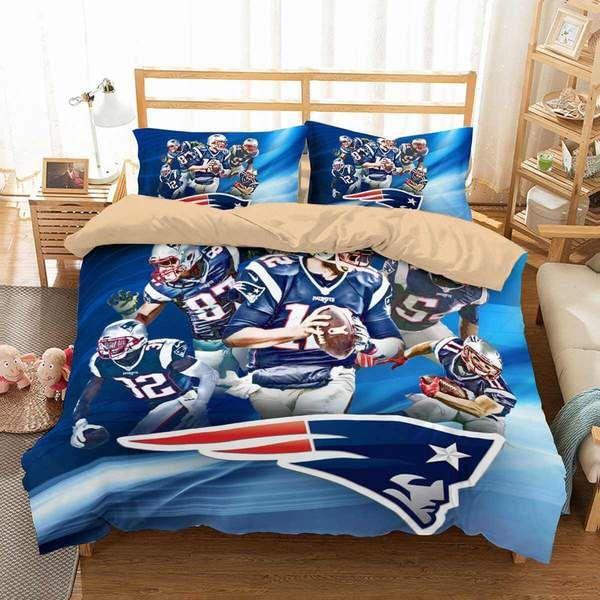 3d Customize New England Patriots Bedding Set Duvet Cover Set