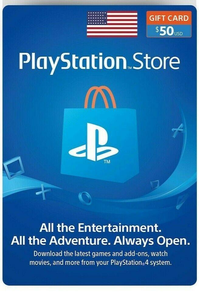 Sony Playstation Network 50 Usd Card Psn 50 Dollar Fast Email