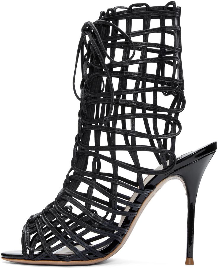 Sophia Webster - Black Delphine Cage Sandals