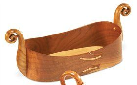 Norwegian Tine - Woodworking Projects - American Woodworker/ this one is called oseberg tray. it is walnut, maple and cucumber magnolia. there is a variety of Viking related style on this site's page