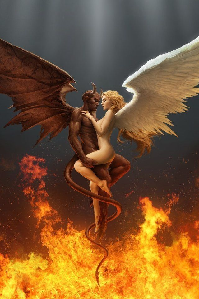 Would definitely like to incorporate an angel and devil into my next tattoo