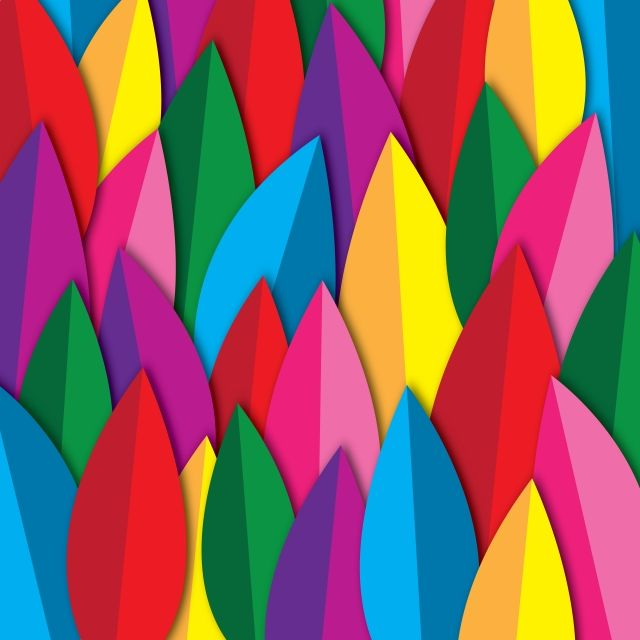 Colorful Beauty Leaves Pattern Abstract Colorful Color Png And